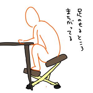 バランスチェアのダメな座り方その2