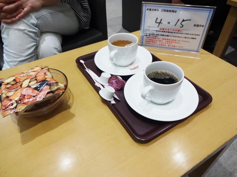 イオンラウンジのコーヒーとお菓子