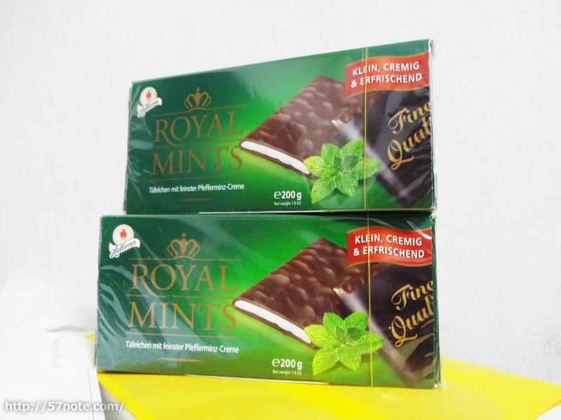 現在2箱に増えているチョコミント