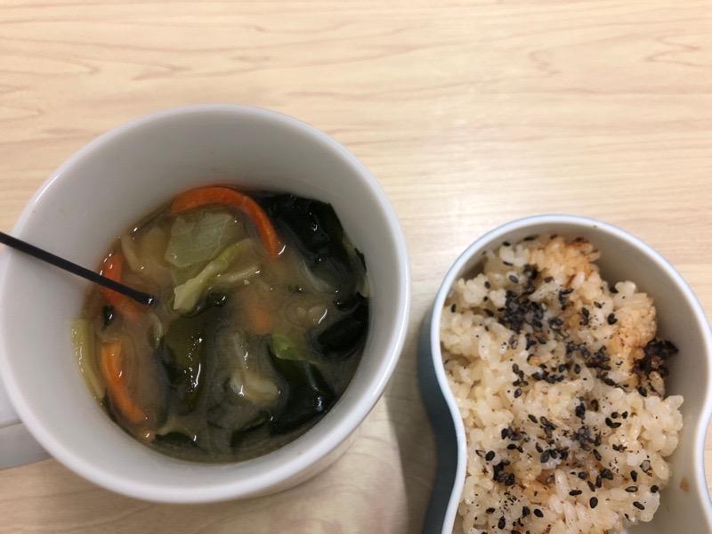 たっぷりお野菜の味噌汁!!